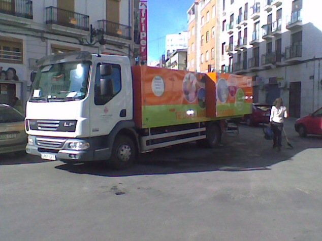 Camion reciclaje